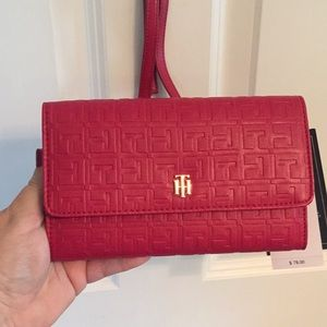 Tommy Hilfiger Red Crossbody Purse/Wallet